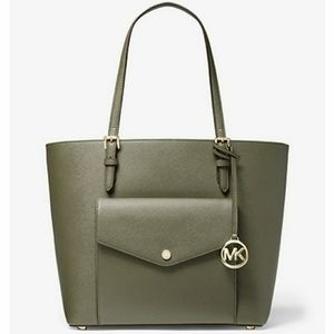 Large leather tote bag  MK